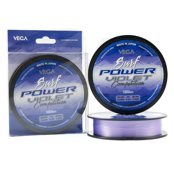 Linha Vega Surf Power Violet Competiton Pesca Barrento