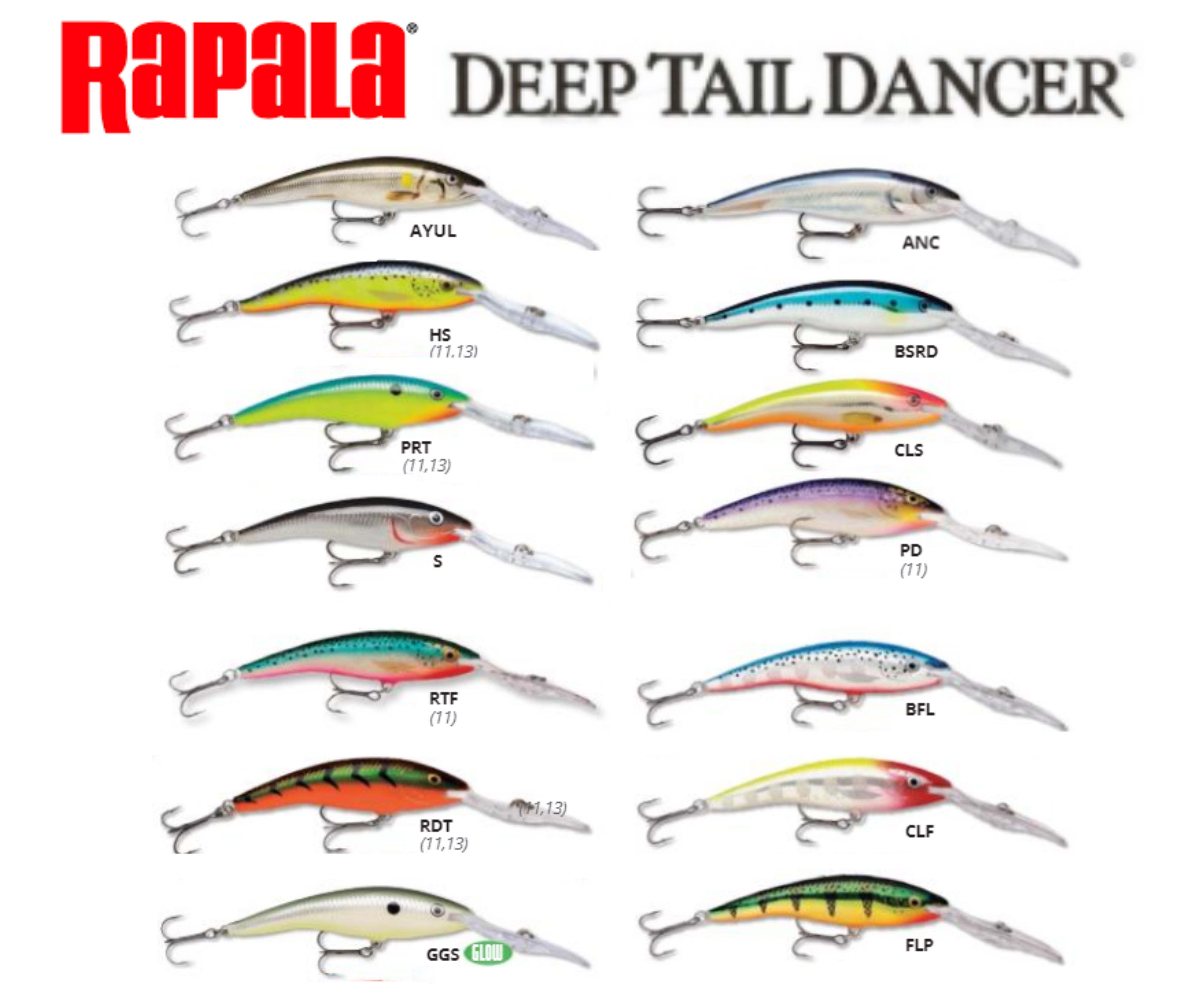 Rapala Deep Tailer Dancer Pesca Barrento